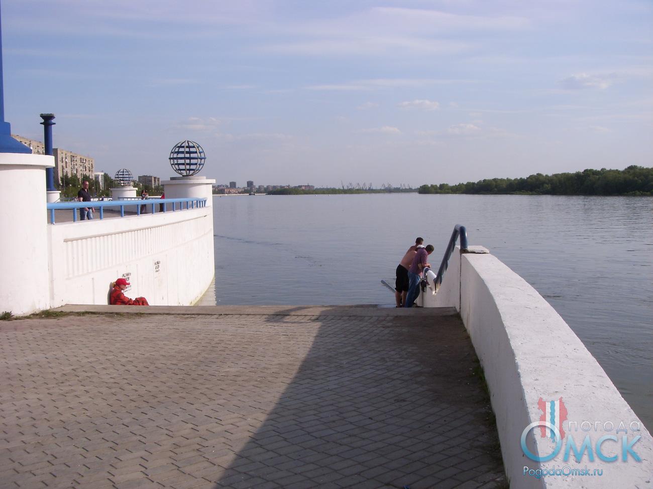 Высший уровень воды на Иртыше в Омске в 2016 году