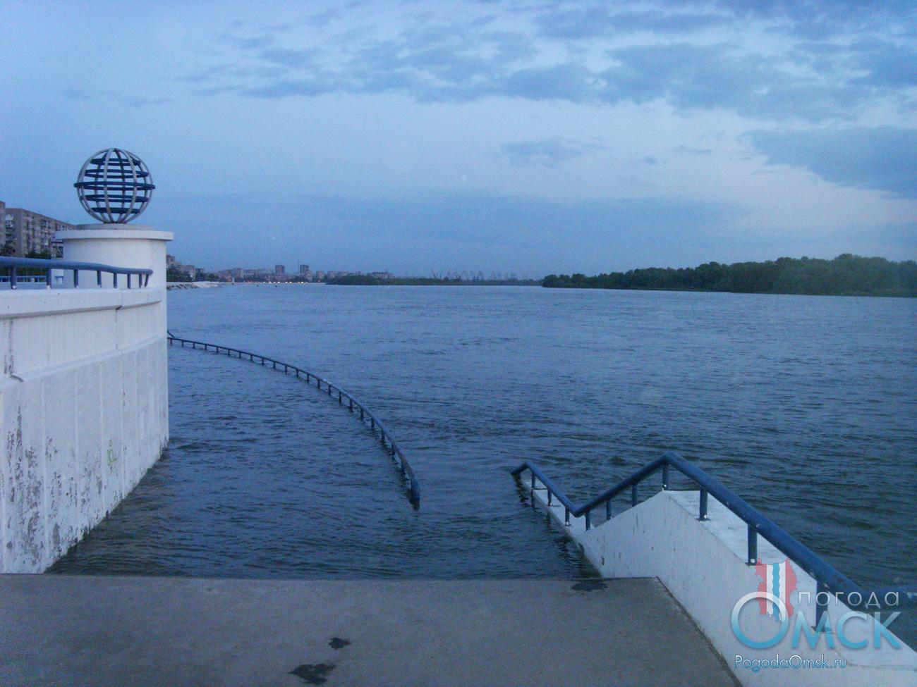 Высший уровень воды на Иртыше в Омске в 2015 году
