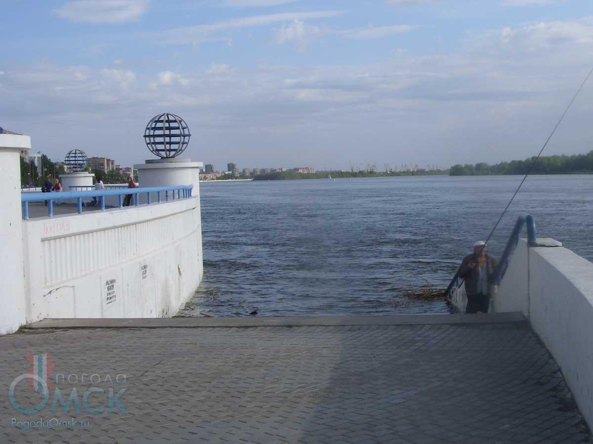 Высший уровень воды на Иртыше в Омске в 2017 году