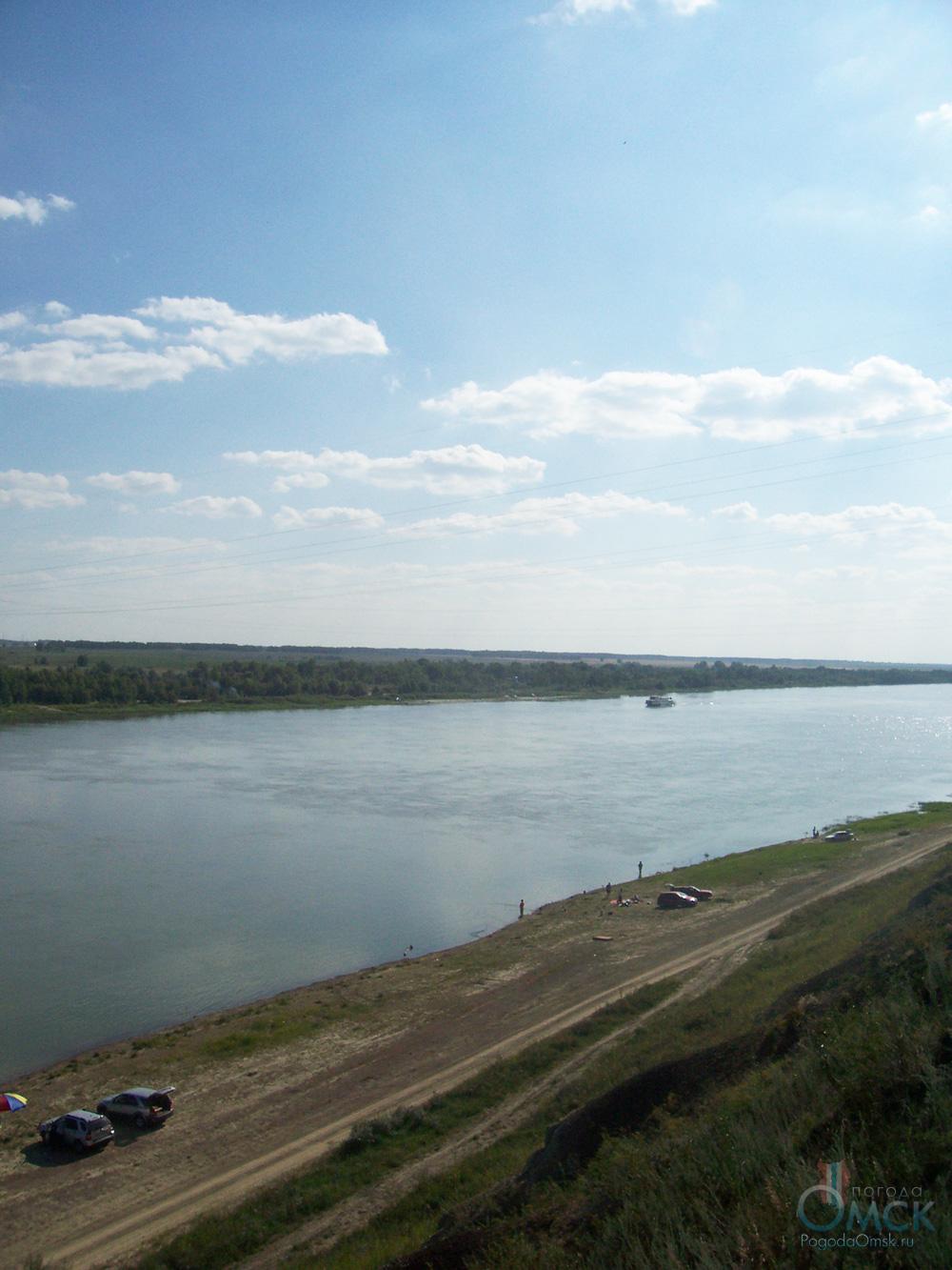 Вид на левый берег Иртыша