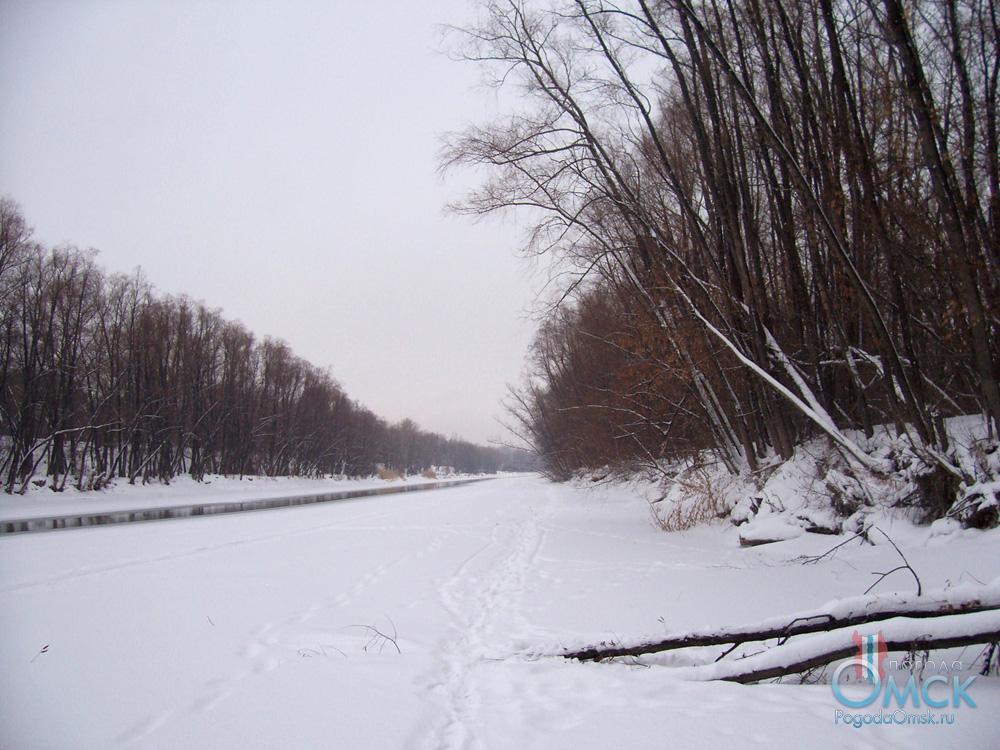 Протока на Иртыше. Ноябрь.