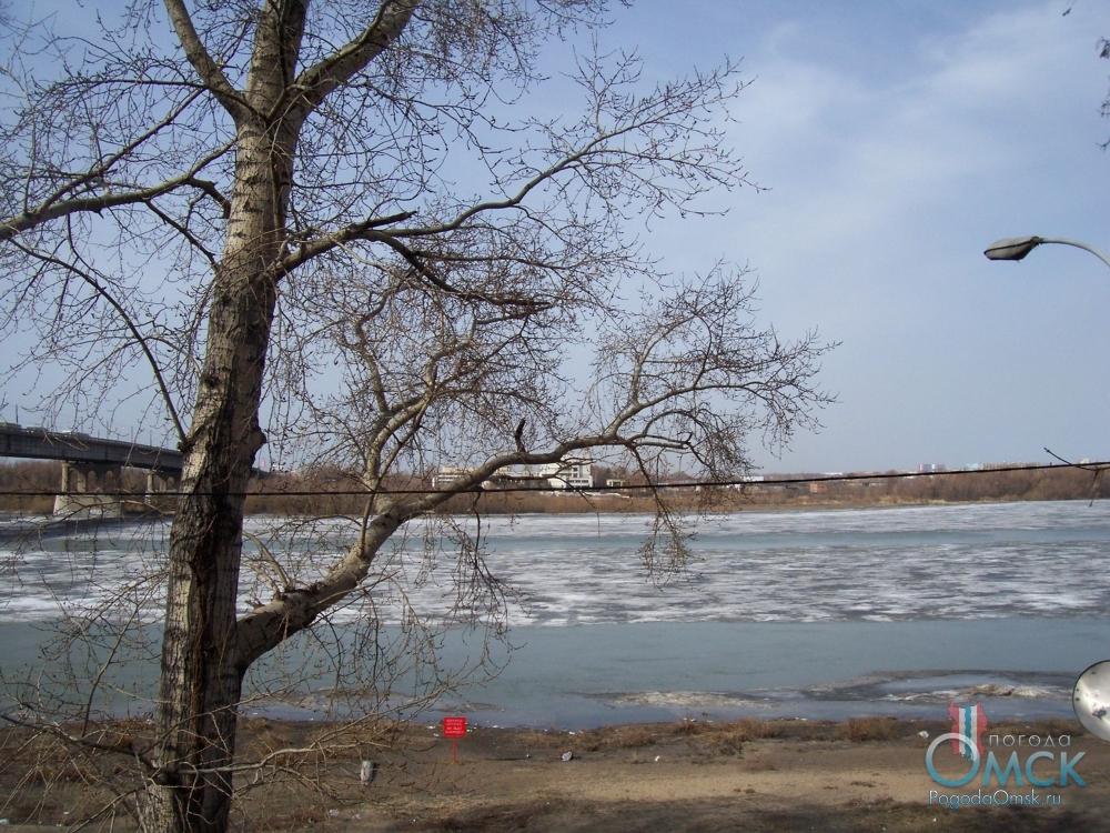 Вид на Иртыш. Апрель