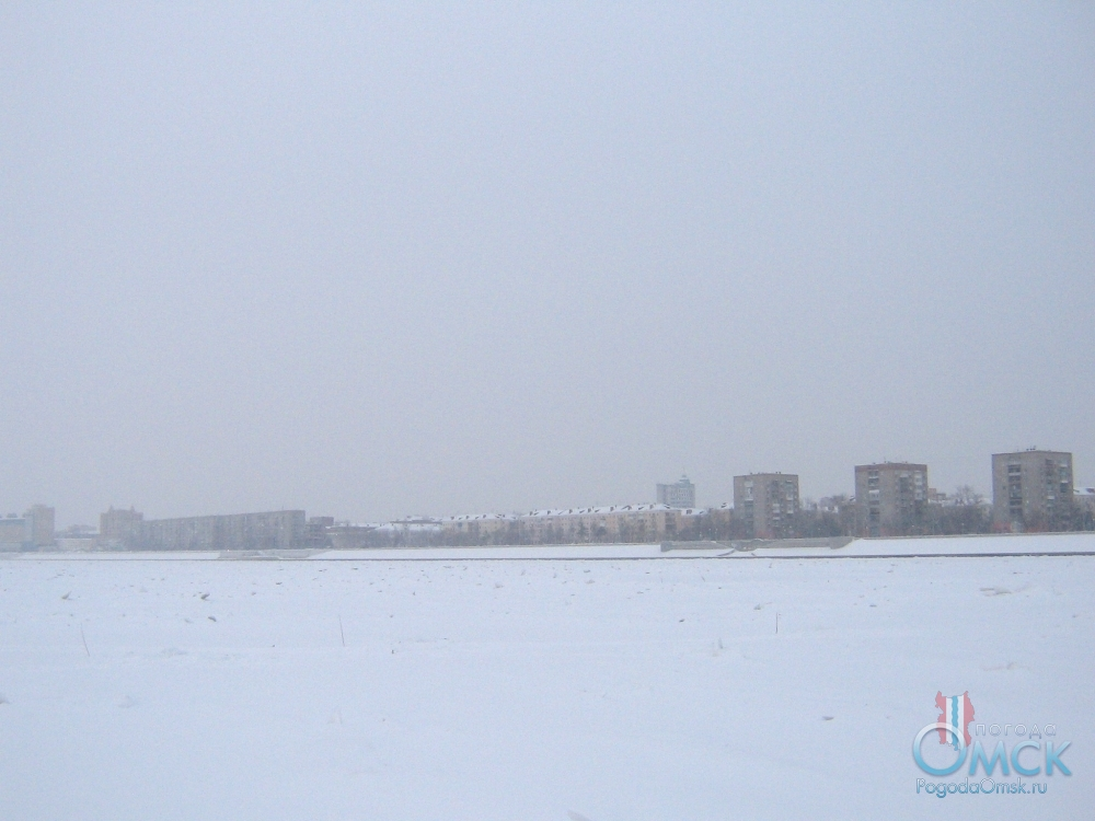 Зима. Вид на Иртышскую набережную