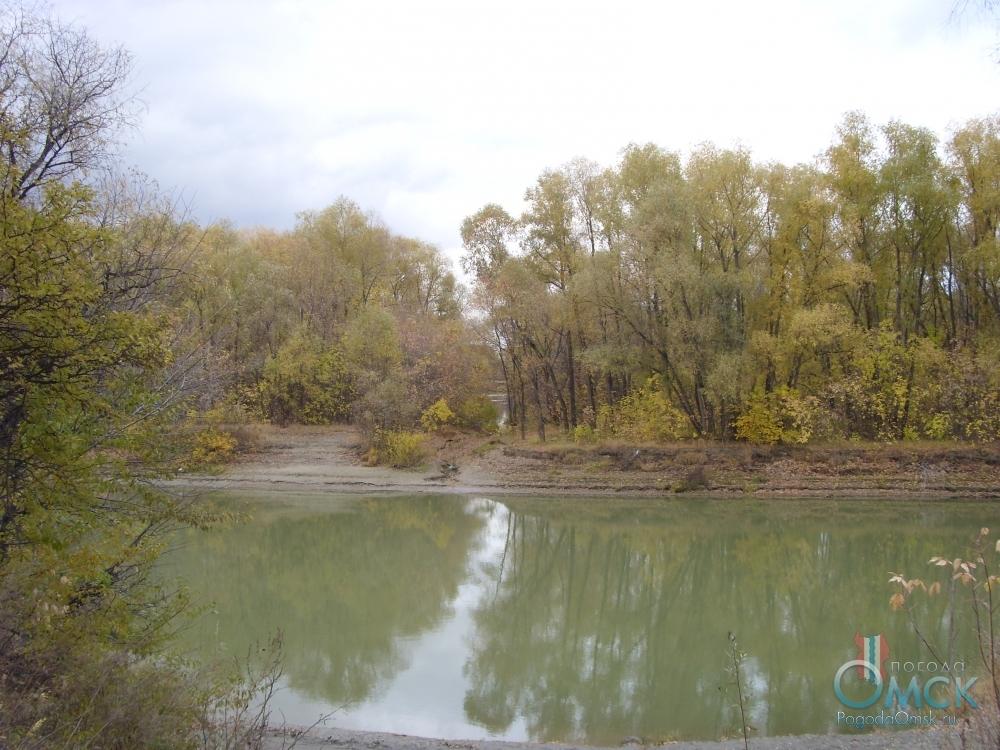 Цвет воды в реке осенью