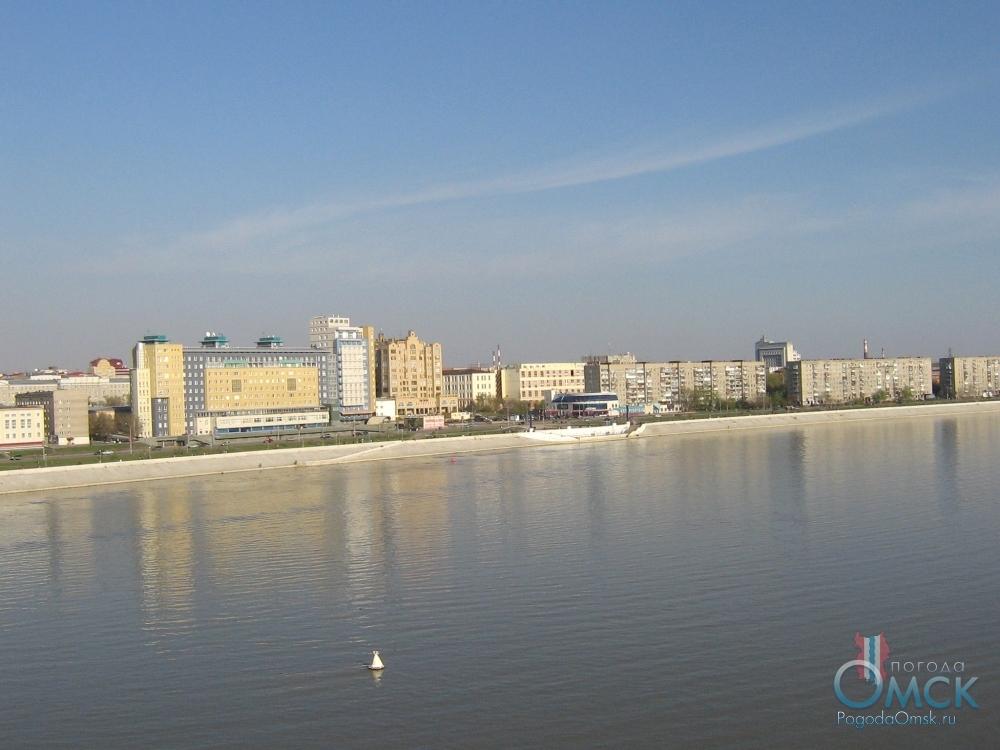 Вид на Иртышскую набережную
