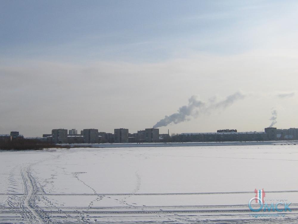 Зима. Вид на правый берег Иртыша
