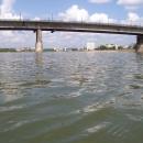 Иртыш, вид на «Ленинградский» мост