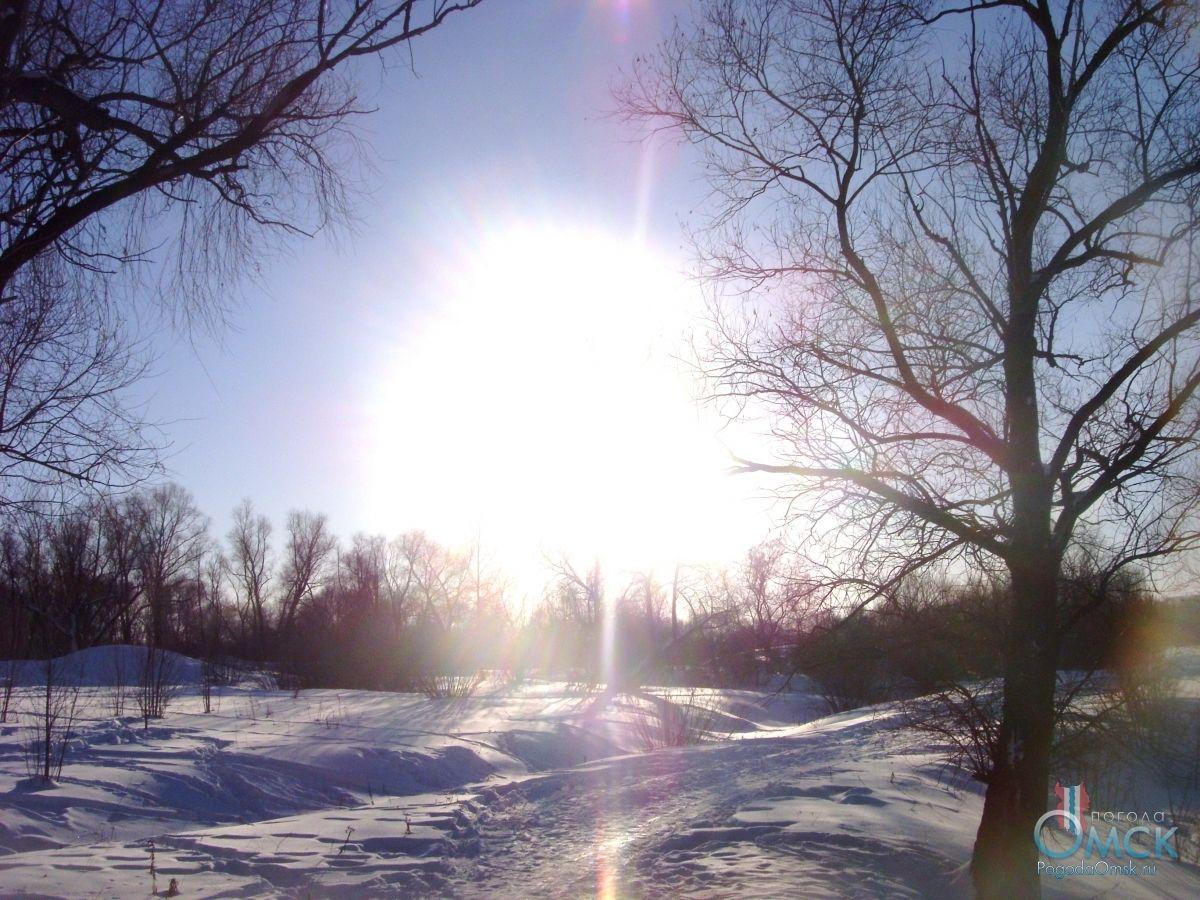 Яркое февральское солнце