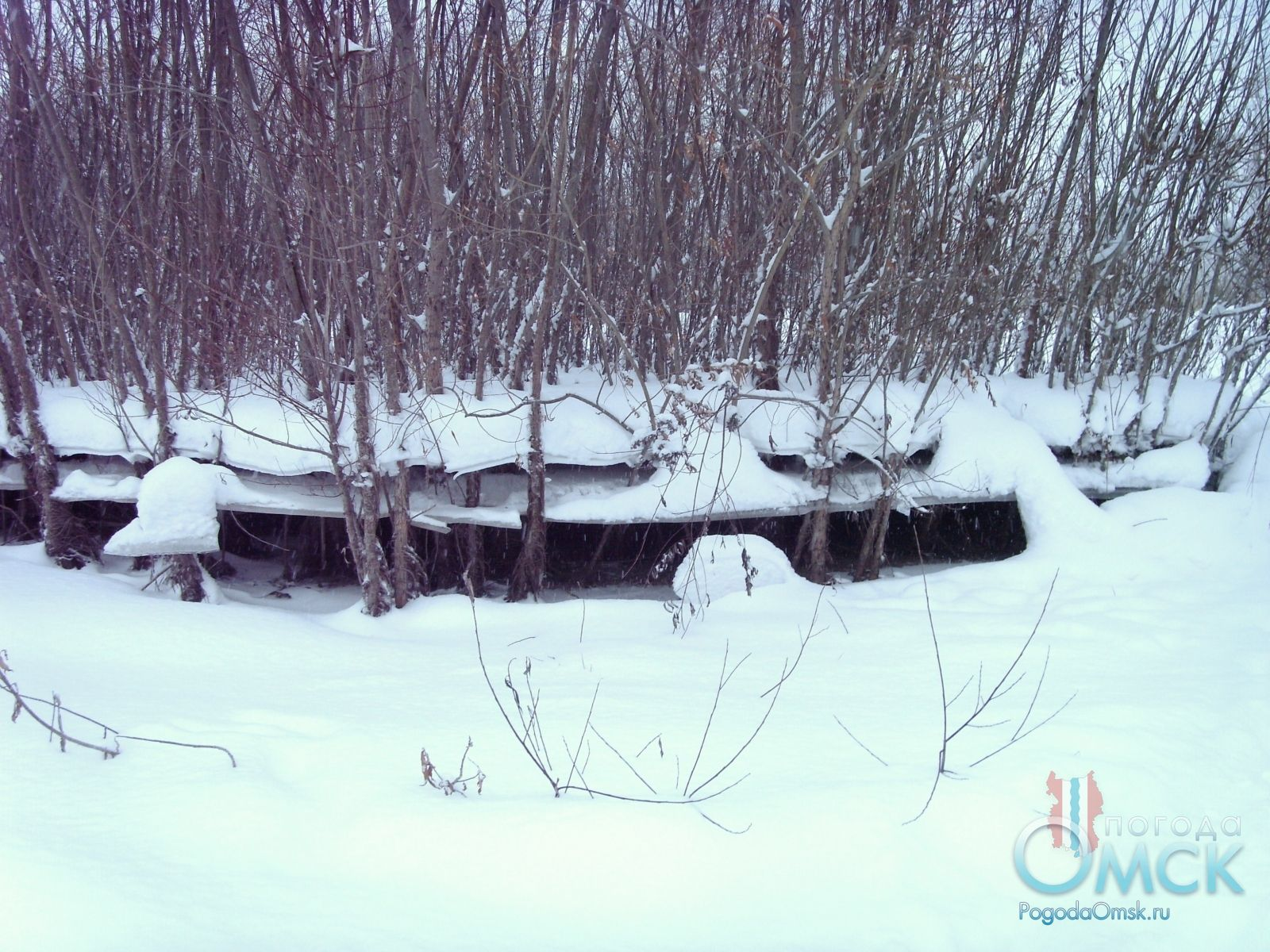 Зимний спад воды