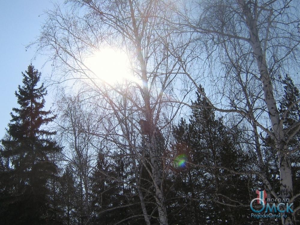 Солнце согревает своими лучами холодный воздух