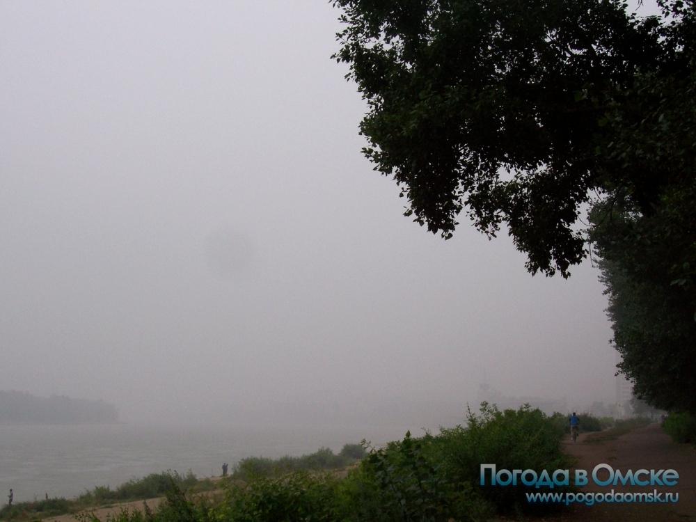 Дым от пожаров в Омске