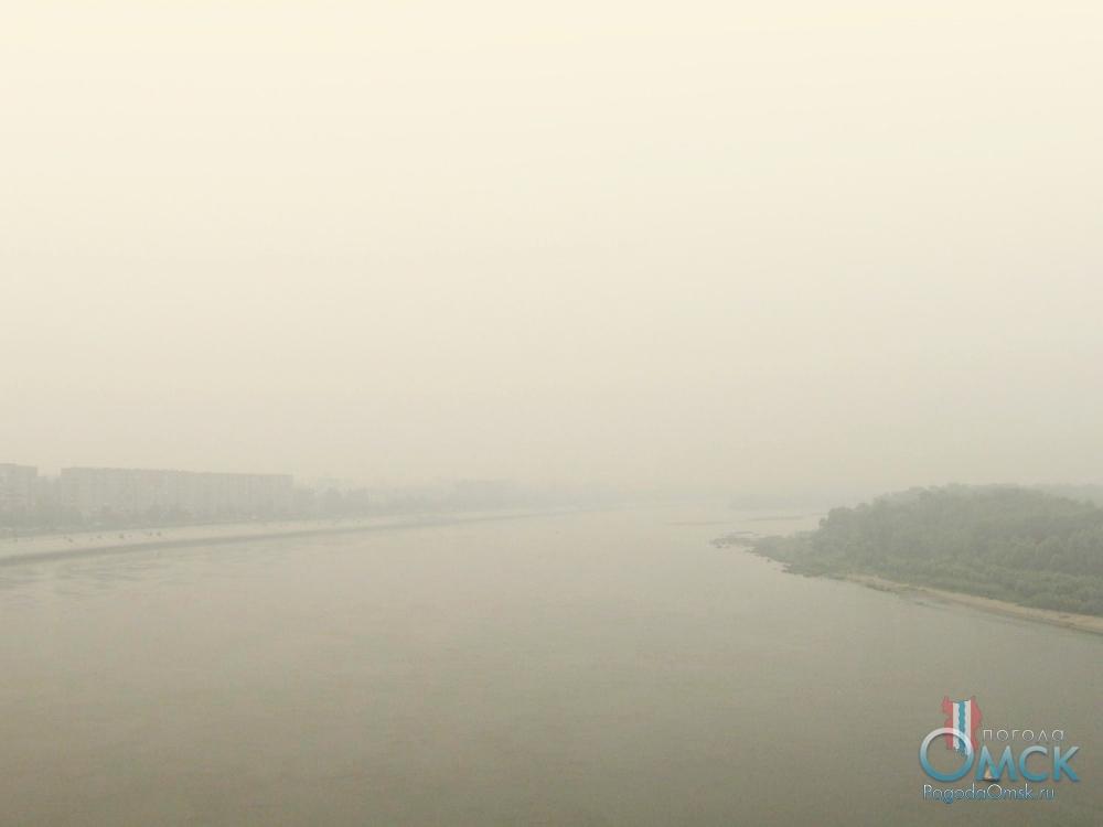 Задымление. Вид на юг с Ленинградского моста