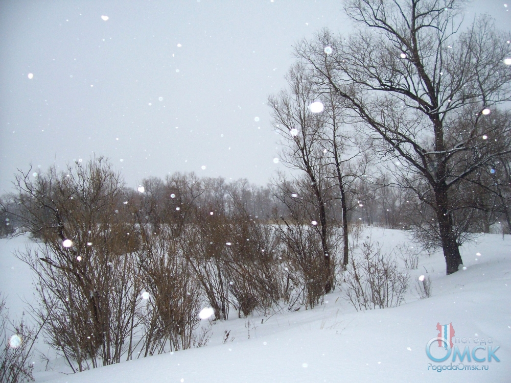 Мощь ветра спала и снега стало меньше