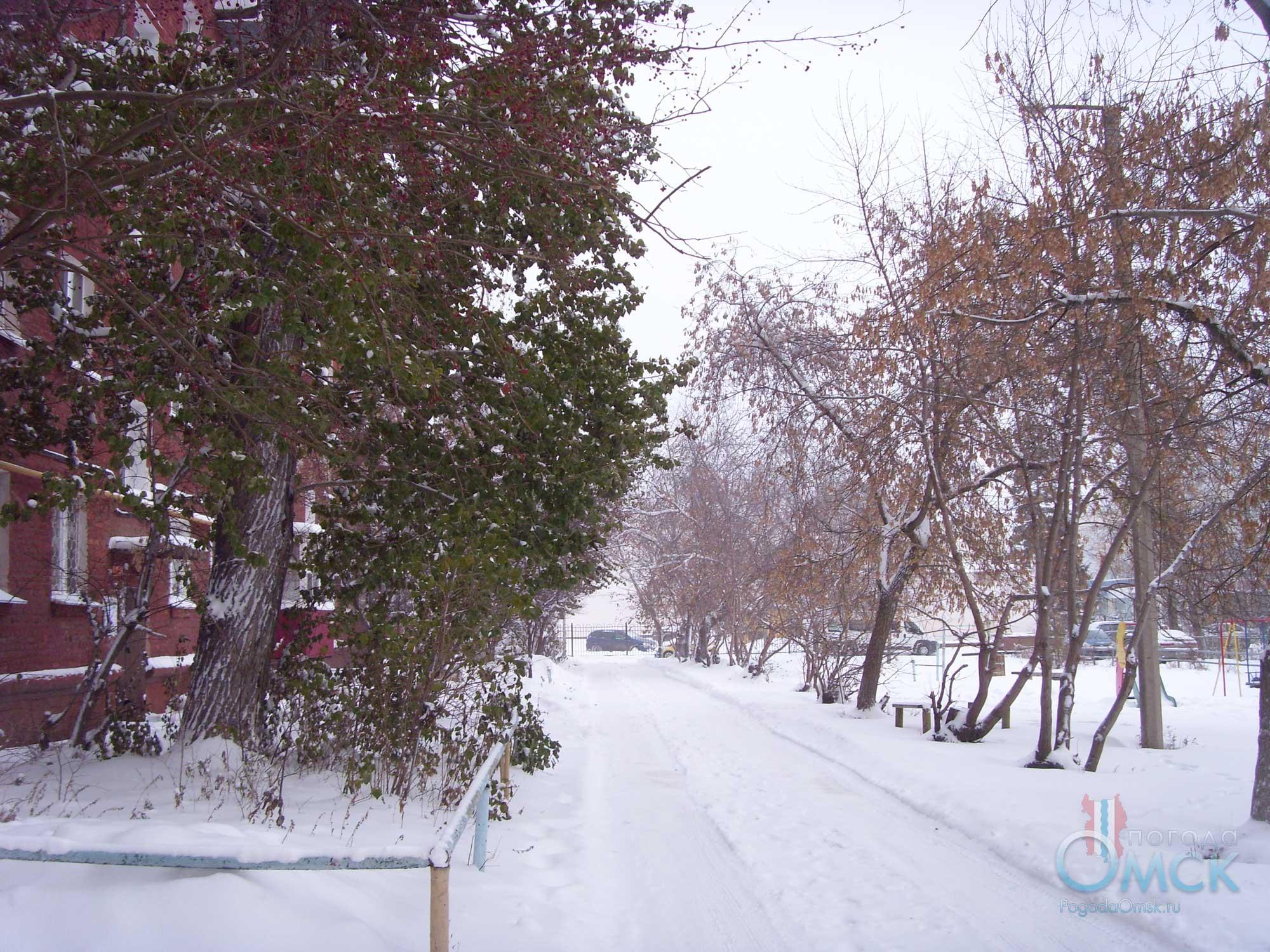Снегопад в октябре