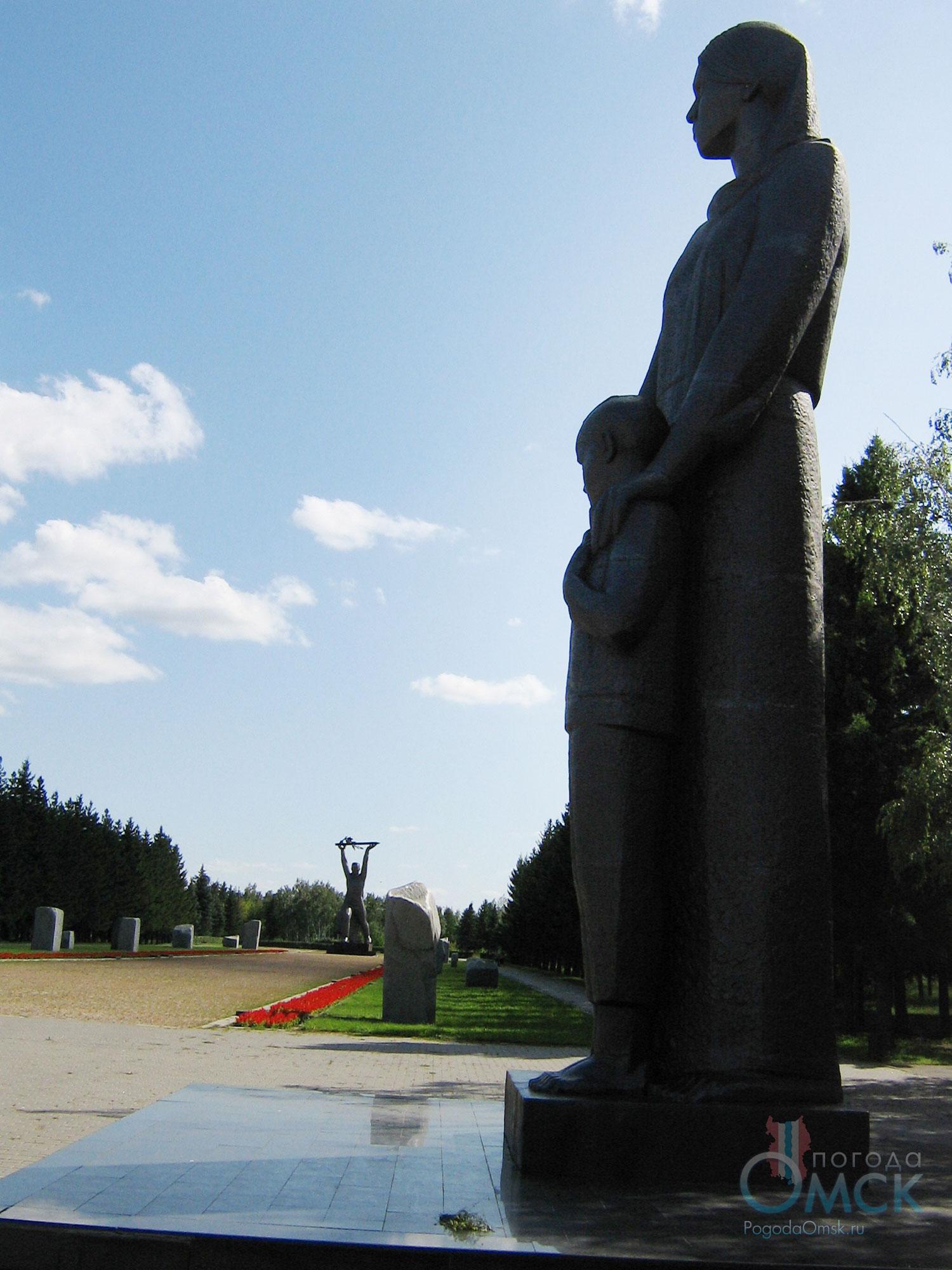 Скульптура Сибирячки с сыном