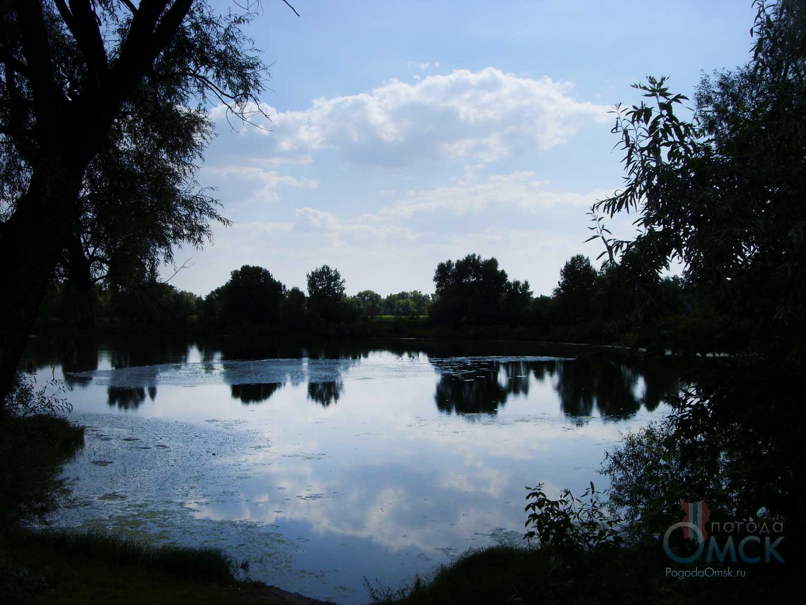 Красивое озеро в Омске