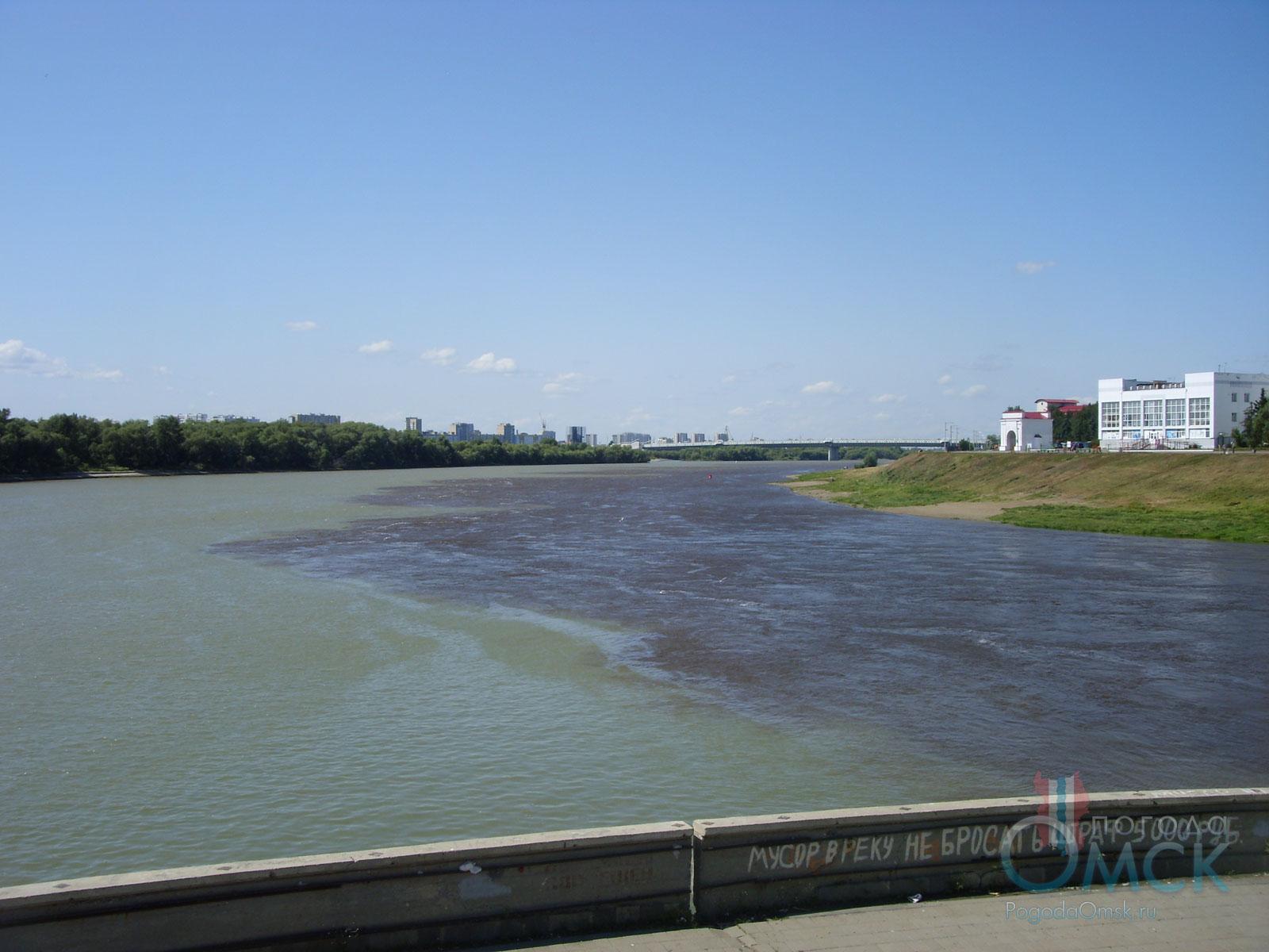 Тёмный цвет воды в реке